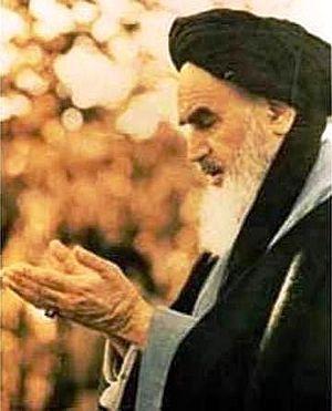 Ruhollah Khomeini in paris.