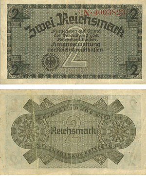 2 Reichsmark of the occupied territories