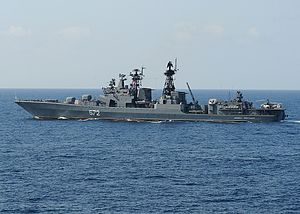 The VMF Admiral Vinogradov of the Udaloy class...