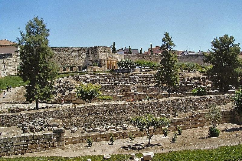 L'intérieur de la Alcazaba de Merida