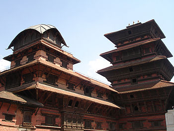 English: Basantapur Tower at Kathmandu Durbar ...