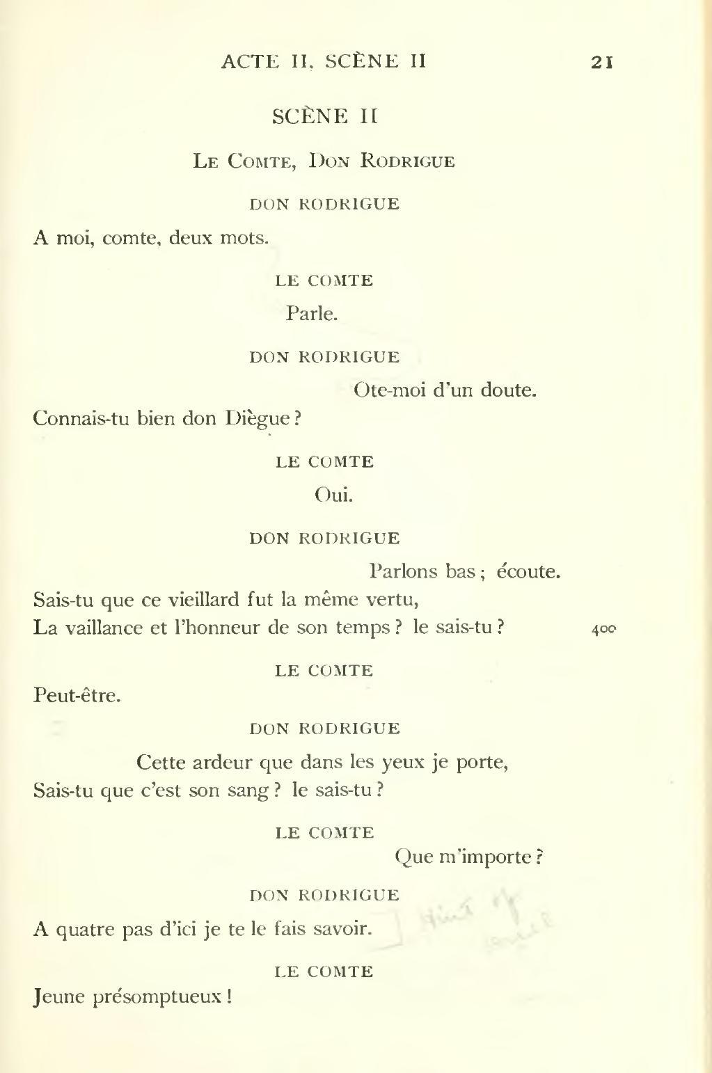 Le Cid Acte 2 Scene 2 : scene, Page:Corneille, Searles,, 1912.djvu/55, Wikisource
