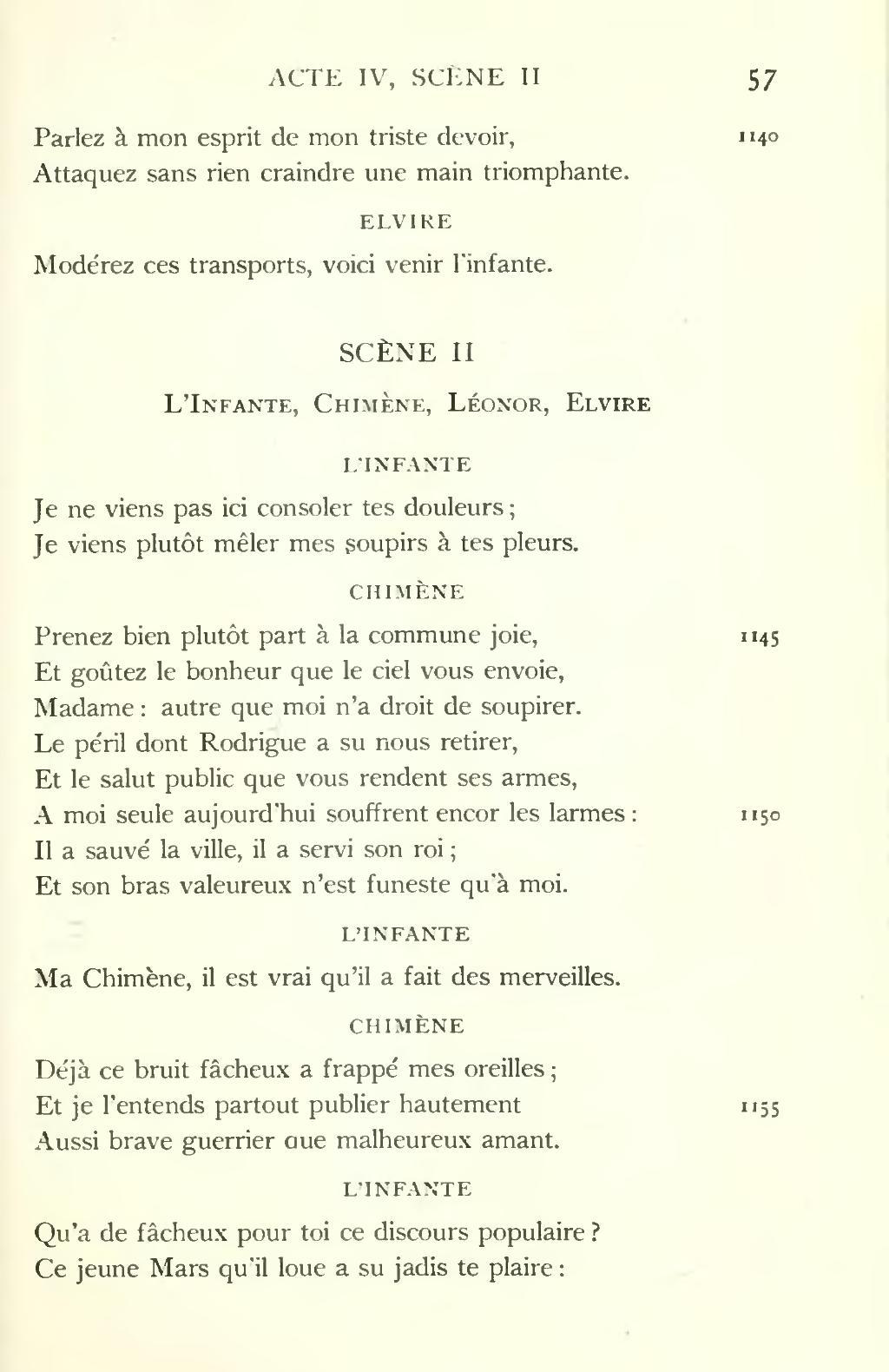 Le Cid Acte 2 Scene 2 : scene, Page:Corneille, Searles,, 1912.djvu/91, Wikisource