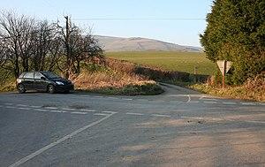 English: Cross Roads The B4580 cross roads.