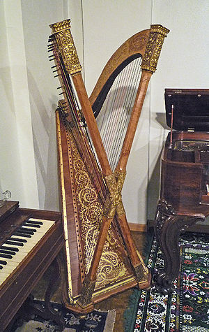 Double chromatic harp, built ca. 1890 by Henry...