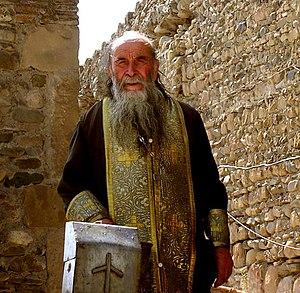 Georgian Orthodox priest, in Mtskheta, Georgia