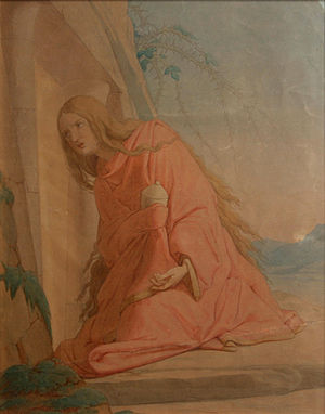 English: Grieving Mary Magdalene by Czech-Aust...