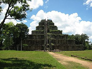 The ruins of Koh Ker, Cambodia was the tempora...