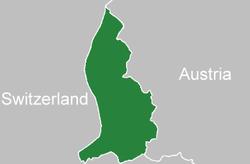 Location of Liechtenstein(green)