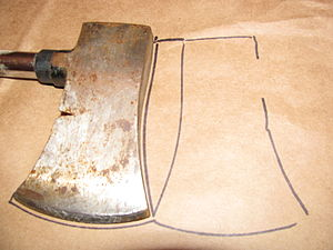 Making a hatchet sheath, step 2: flip the hatc...