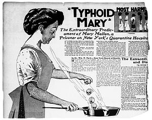 Typhoid Mary in a 1909 was a famous case of a ...