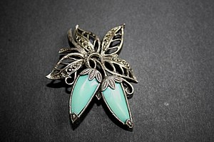 English: Marcasite Brooch I have recently been...