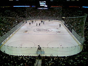 Pepsi Center's interior during Game 4 of the 2...