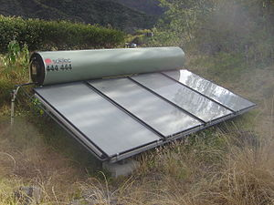 Direct-gain solar heater panels with integrate...