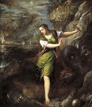 English: Titian, Saint Margaret, Museo del Pra...