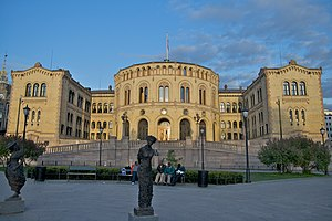 Picture of the Norwegian Parliament.