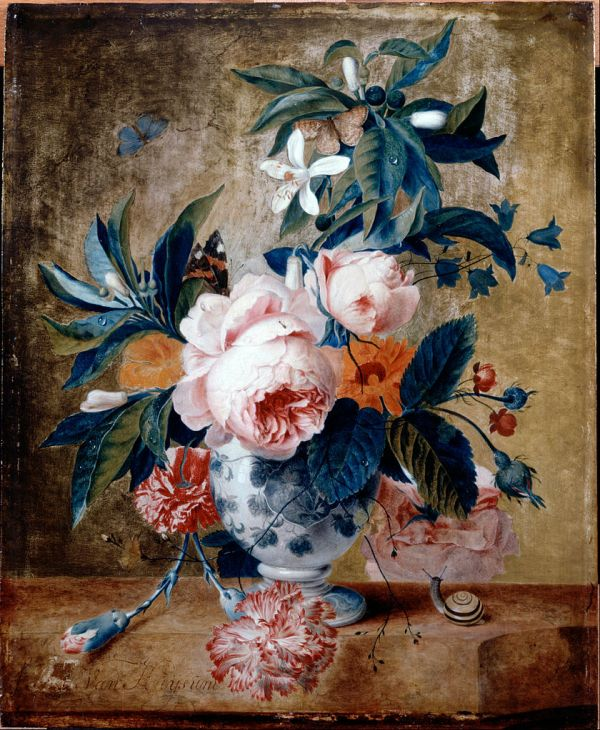 File Van Huysum Michiel - Delft Vase With Flowers Google Art Wikimedia Commons