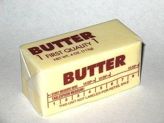 Supermarket butter