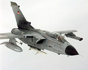 A Luftwaffe Tornado ECR during the air campaig...