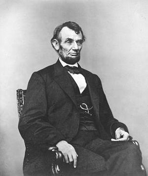 Abraham Lincoln, three-quarter length portrait...