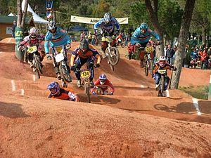 A BMX race. First round of the 2005 European B...