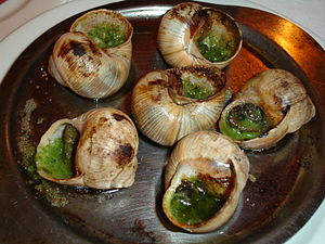 French cooked snails