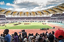 A cross section of the crowd at the inauguration of edgar lungu ceremony.