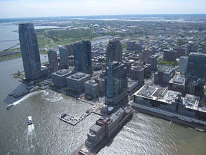 English: Aerial view of downtown Jersey City