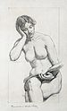 """Study drawing shows the allegorical figu..."
