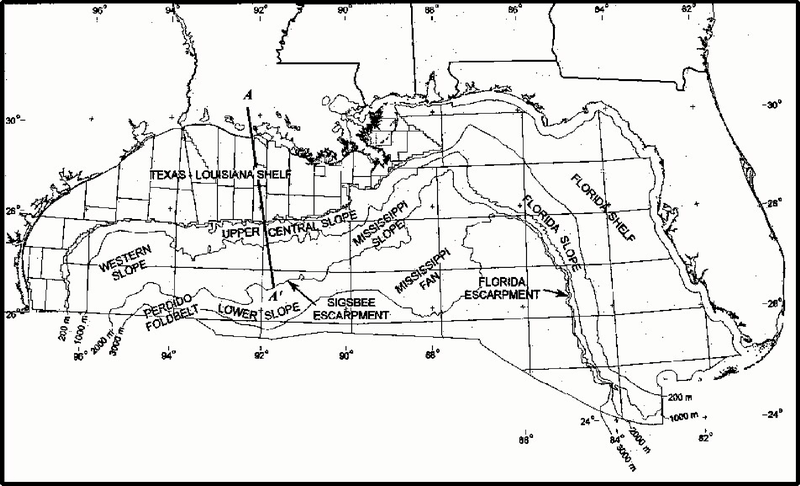 Map of northern part of Gulf of Mexico - from wikipedia entry