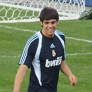 Kaká with Real Madrid in Toronto, practice