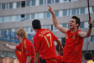 Cesc Fabregas, Dani Guiza and Fernando Torres ...