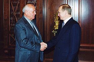 English: THE KREMLIN, MOSCOW. Vladimir Putin a...