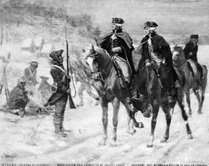 Washington and Lafayette at Valley Forge
