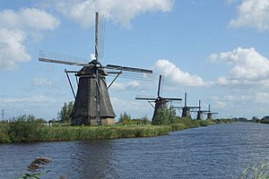 English: Windmills of Kinderdijk Nederlands: M...