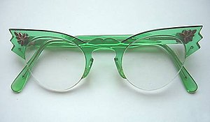 "1950s Women's ""Cats Eye"" Glasses. Ci..."