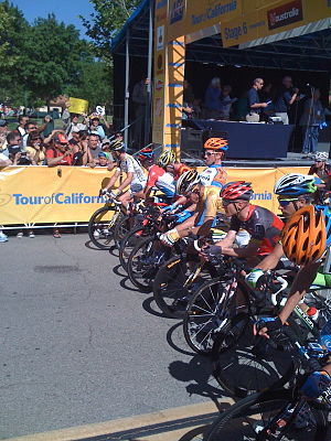 This is the starting line of the Amgen Tour of...