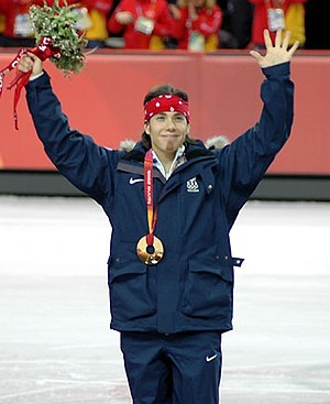 Apolo Anton Ohno at the Short track speed skat...