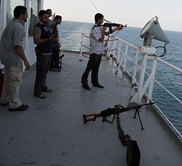 Foto Söldner auf Schiff