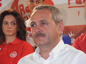Romanian politician Liviu Dragnea at a Social ...