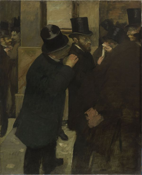 Edgar Degas Portraits at the Stock Exchange