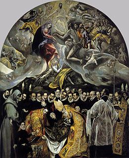 Enterrement du comte d'Orgaz, El Greco: Analyse