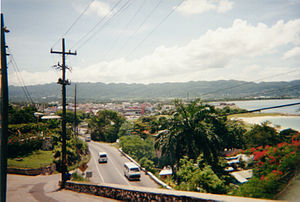 View of Montego Bay from the hillside.