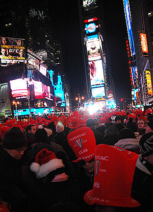 English: Times Square, New Year's Eve, Decembe...