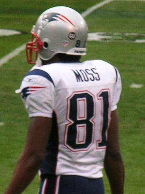 New England Patriots wide receiver Randy Moss ...