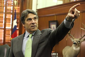 Rick Perry shows us around his office. He's Te...