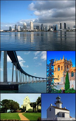 Montage of San Diego pictures on Commons