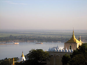 Ayeyarwady River from Sagaing Hill, Sagaing Ру...