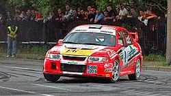 Evolution VI rally car.