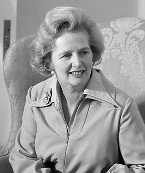 English: Margaret Thatcher, former UK PM. Fran...